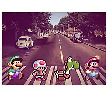 Abbey Road Mario Edition 2 Photographic Print