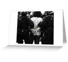 Arrested Greeting Card