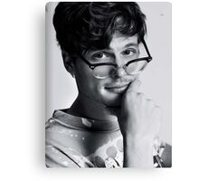 Matthew Gray Gubler with glasses Canvas Print