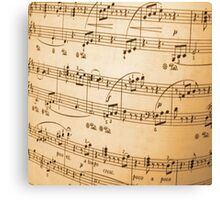 Sheet of Music Vintage Abstract Design Canvas Print
