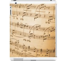 Sheet of Music Vintage Abstract Design iPad Case/Skin
