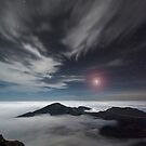 Mars Rising Over Haleakala - Maui by Michael Treloar