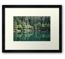 emerald view Framed Print
