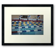 Swimming Lane Marker Framed Print