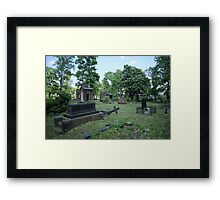 Old ruined cemetery Framed Print