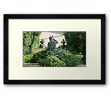 Statue  mermaid in the bush Framed Print