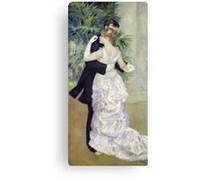 Pierre-Auguste Renoir - Dance In The Cityrenoir. Dancer painting: ballroom, dance, couple, evening dress, costume, ball dance, dancing woman, young , dancers, ball dance,  lovers  Canvas Print