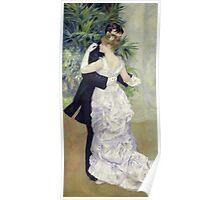 Pierre-Auguste Renoir - Dance In The Cityrenoir. Dancer painting: ballroom, dance, couple, evening dress, costume, ball dance, dancing woman, young , dancers, ball dance,  lovers  Poster