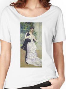 Pierre-Auguste Renoir - Dance In The Cityrenoir. Dancer painting: ballroom, dance, couple, evening dress, costume, ball dance, dancing woman, young , dancers, ball dance,  lovers  Women's Relaxed Fit T-Shirt