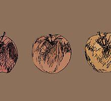 3 apples by artbysteph