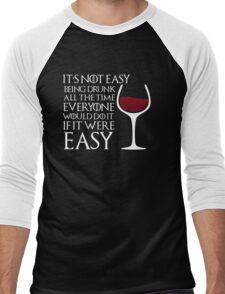 Drunk Men's Baseball ¾ T-Shirt