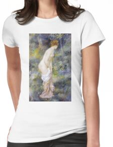 Pierre-Auguste Renoir - Standing Bather. Woman portrait: daytime, bather, naked, nudes , nudity,  breast , buttock , sensual, erotic, sexy , girl Womens Fitted T-Shirt