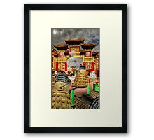 Straw Dalek (4) A night out on the town Framed Print