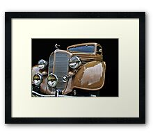 Old Car Photo - 1935 Buick Victoria Framed Print