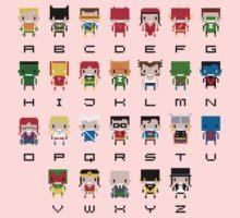 Superhero Alphabet One Piece - Long Sleeve