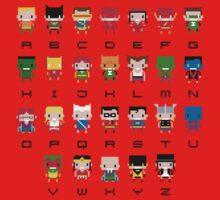 Superhero Alphabet Kids Tee