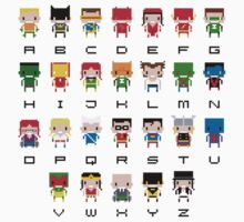 Superhero Alphabet Kids Tee