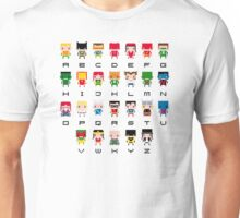 Superhero Alphabet Unisex T-Shirt