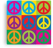 Pop Art Peace Symbols Canvas Print