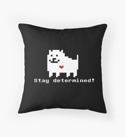Undertale - Stay Determined! Throw Pillow