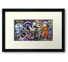 Nano Man in a South Wales Landscape. Framed Print