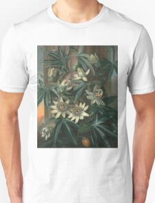 Philip Reinagle - Blue Passion Flower 1800. Still life with flowers: still life with flowers, flowers, blossom, nature, botanical,  leaves, wonderful flower, plants,  leaf, garden,  passion Unisex T-Shirt