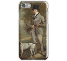 Philip Reinagle - John Hind. Hunter painting: hunting man, nature, male, forest, wild life, masculine, dogs, hunt, manly, hunters men, hunter iPhone Case/Skin