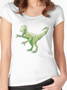 Velociraptor Women's Fitted Scoop T-Shirt
