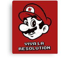 Viva la Resolution Canvas Print