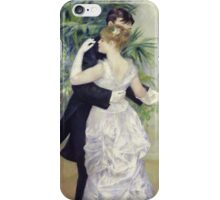 Pierre-Auguste Renoir - Dance In The Cityrenoir. Dancer painting: ballroom, dance, couple, evening dress, costume, ball dance, dancing woman, young , dancers, ball dance,  lovers  iPhone Case/Skin