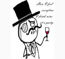 Classy fancy gentleman meme Men's Baseball ¾ T-Shirt