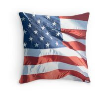 Waving Flag of United States Throw Pillow