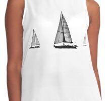 Sailing Away Art Contrast Tank