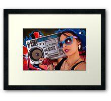 Boombox Girl Framed Print
