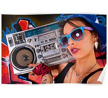 Boombox Girl Poster