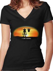Crash Bandicoot - The Return Women's Fitted V-Neck T-Shirt