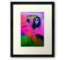 Pop Art Boombox Girl Framed Print