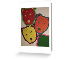 Abstract Pitties Greeting Card