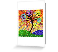SOLAR TREE Greeting Card