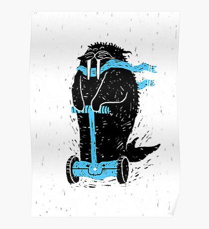 Easy Ridin' Walrus Poster