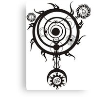 Spell circle Canvas Print