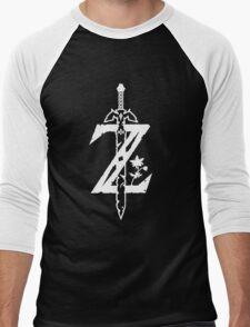 The Legend of Zelda Z-Logo (Transparent/White) Men's Baseball ¾ T-Shirt