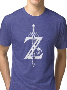 The Legend of Zelda Z-Logo (Transparent/White) Tri-blend T-Shirt