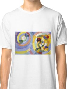 Robert Delaunay - Circular Forms . Abstract painting: abstraction, geometric, expressionism, composition, lines, forms, creative fusion, music, kaleidoscope, illusion, fantasy future Classic T-Shirt