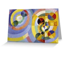 Robert Delaunay - Circular Forms . Abstract painting: abstraction, geometric, expressionism, composition, lines, forms, creative fusion, music, kaleidoscope, illusion, fantasy future Greeting Card