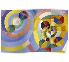 Robert Delaunay - Circular Forms . Abstract painting: abstraction, geometric, expressionism, composition, lines, forms, creative fusion, music, kaleidoscope, illusion, fantasy future Poster
