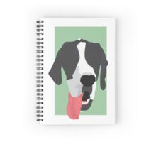 Great Dane Pup with Green Background Spiral Notebook