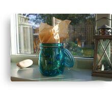 Blue jar Canvas Print