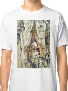 Robert Delaunay - Eiffel Tower. Abstract painting: abstraction, geometric, Eiffel ,  Tower, lines, forms, Circular , music, kaleidoscope, illusion, fantasy future Classic T-Shirt