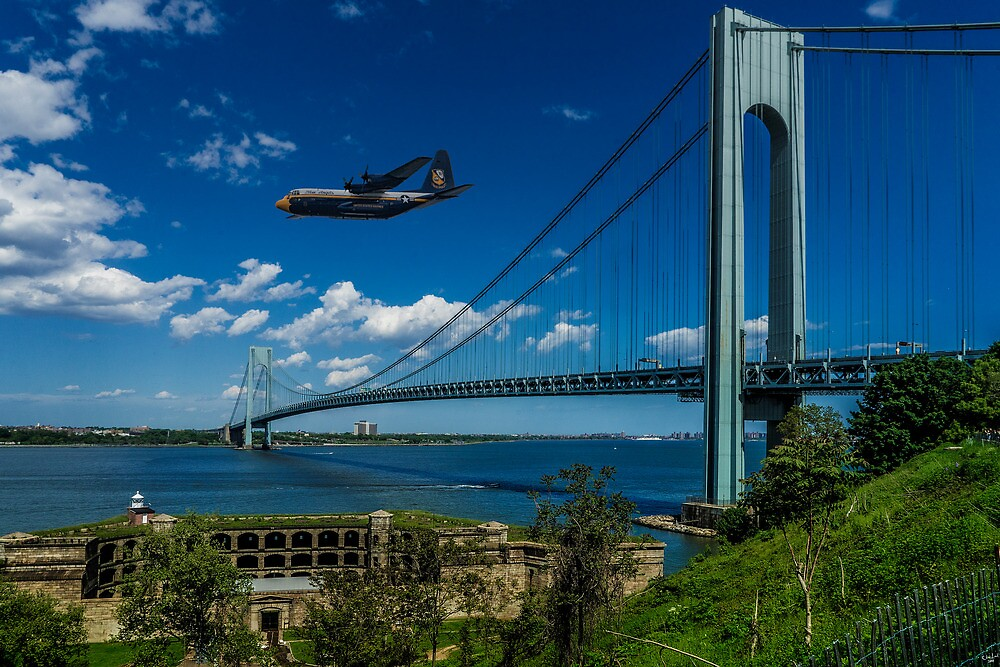 Fat Albert Over The Verrazano Bridge by Chris Lord